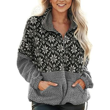 Casual Women's Fleece Fur Pullover Jacket