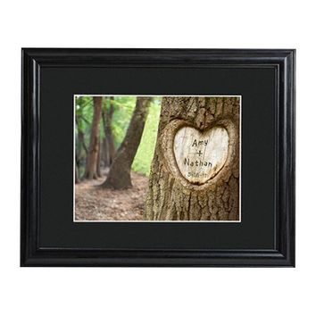 Personalized Gift Tree of Love Framed Photo Graphic Print on Paper
