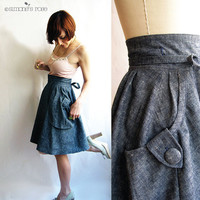 Heartland Eco fashion denim wrap skirt