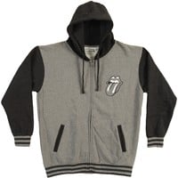 Rolling Stones Men's  Tongue Varsity Jacket Grey
