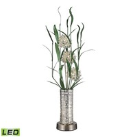 Windbear Contemporary Floral Display Floor Lamp In Silver Silver