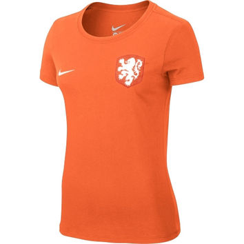 Netherlands Nike Women's Core Crest T-Shirt – Orange - http://www.shareasale.com/m-pr.cfm?merchantID=7124&userID=1042934&productID=540994233 / Netherlands
