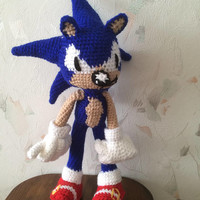 ON SALE - 10% OFF Crochet  Sonic the  Hedgehog