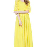Daffodil Lace Half Sleeve Dress