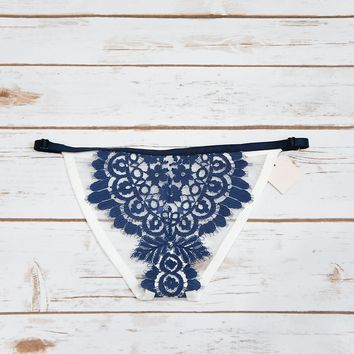 Flame and Lace blue thong panty