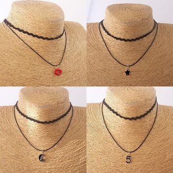ca PEAPTM4 New Arrival Stylish Gift Jewelry Shiny Summer Simple Design Double-layered Necklace [10688606215]