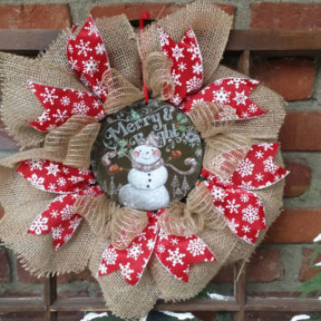 christmas wreath snowman wreath christmas burlap wreath small christmas wreath christmas snowman decoration holiday decor window - Small Christmas Wreaths