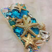 iPhone 4 4s 4g Case Cover Star Fish Pearl Rhinestone Crystal