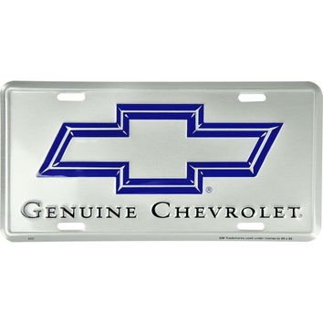 Signs 4 Fun Slacs Chevy Silver License Plate