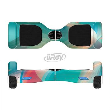 The Vivid Turquoise 3D Wave Pattern Full-Body Skin Set for the Smart Drifting SuperCharged iiRov HoverBoard
