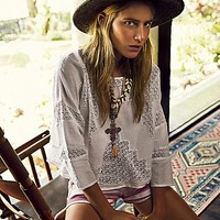 Free People Womens All Together Now Pullover