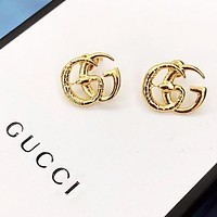 GUCCI Fashion New Letter Snake Earring Women Accessories Golden