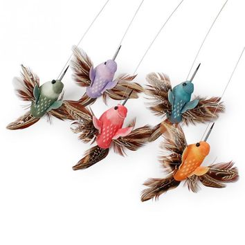 Electric Rotating Colorful Butterfly and Bird Pattern Cat Toy