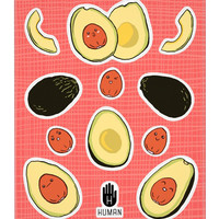 KAWAII ADVOCADO STICKERS - PREORDER