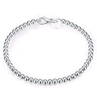 ON SALE - Delicate Beads Sterling Silver Bracelet