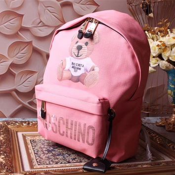 Moschino Teddy Beer Leather Backpack Bag #42341 - Best Deal Online