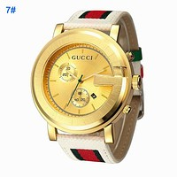 GUCCI Classic Ladies Men Movement Stainless Steel Watch Lovers Wristwatch 7#