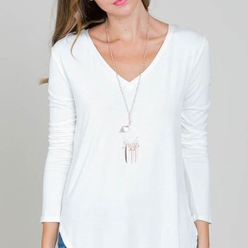 Perfect V Neck - Off White