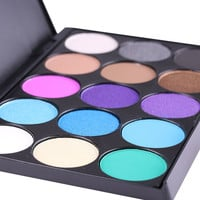 15 Color Cosmetic Matte Eyeshadow Cream Eye Shadow Makeup Palette Shimmer Set 15 Color