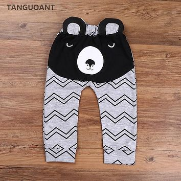 TANGUOANT Hot Sale Boys Pants Bears Children Harem Pants For Girls Boy New Fashion Toddler Child Trousers Baby Clothes
