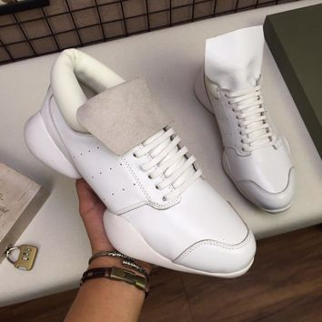 adidas x Rick Owens RO White Vicious Runner Sneakers - Best Deal Online