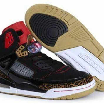 Cheap Air Jordan 3.5 Spizike Retro Men Shoes Black Gold