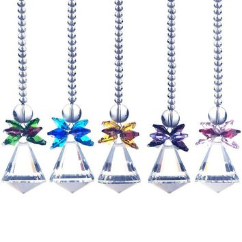 K9 Crystal Rainbow Suncatcher& Colorful Beads Accessories Crystal Lamp Prisms Chakra Chandelier Crystal Pendants 1PCS/LOT