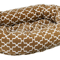Bowsers Cedar Lattice Microvelvet Donut Dog Bed