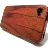 QUAD-G TECH Handmade Walnut Wood Case for iPhone 4 4S