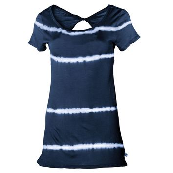 Women's Bamboo S/S Twist Back Yoke Tee