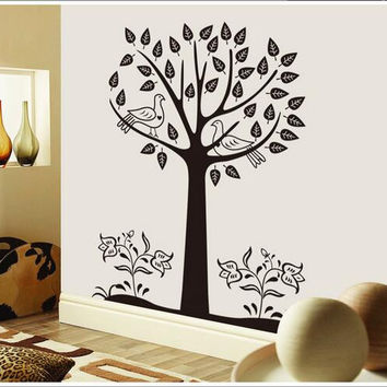 The new black tree sitting room household adornment wall stick mobile stick on the wall SM6