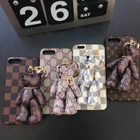 Gucci Bear Mobile Phone Shell iPhone Phone Cover Case For iphone X iphone 8 8plus iPhone6 6s 6plus 6s-plus iPhone 7 7plus
