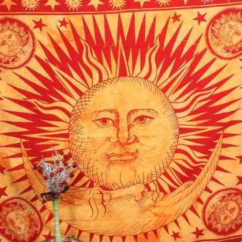 Beautiful Big Sun moon Tapestries Celestial Tapestry sun Wall Hanging Yoga Wall decor Picnic Beach blanket sheet Tapestry Dorm Bedding decor