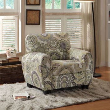 Homelegance Rubin Chair w/ Medallion Print Accent