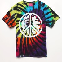 Mishka Peace Keep Watch GID T-Shirt - Mens Tee - Tie Dye