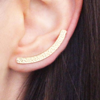 Half Moon ear bar - gold ear piece