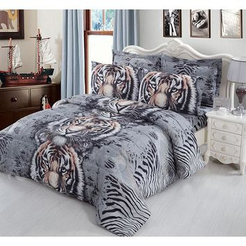 Home Textile 2016  HOT 3d Bedding Sets Bed printed Cover Bed Linen Bed Sheet Pillow Case Double bedspreads queen size bed sheet