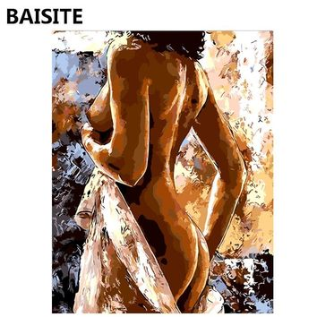 BAISITE Frameless DIY Oil Painting Pictures By Numbers On Canvas Wall Pictures Wall Art For Living Room Home Decoration 1007