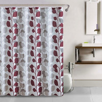 Shower Curtain- 13pc Waffle Texture Set