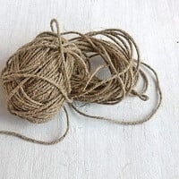 Linen twine 27 yd Natural linen cord Linen cording Decorative rope Rustic wedding decor Home garden supply Hand craft Gift eco packaging