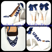 USAF Air Force Glitter High Heels
