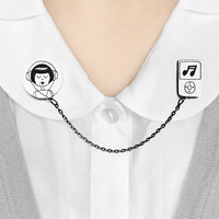 Headphones collar clip set