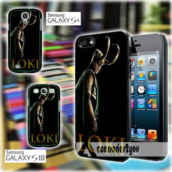 Loki The Avengers Enemy Thor 1215 Design iPhone 4, iPhone 4s, iPhone 5, iPhone 5s, iPhone 5c, Samsung Galaxy S3, Sasmsung Galaxy S4 Case