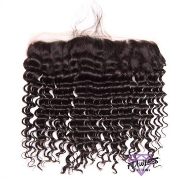 Peruvian Deep Wave Lace Frontal Closure