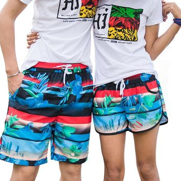 H.S.F.Q Quick-drying Knickers Short 2018 Men Summer Beach Shorts Many Styles Couple Swimsuit Wear Sports Tracksuit Women Pants