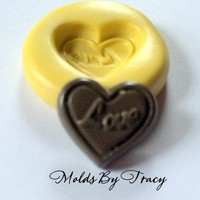 Love Heart Silicone Mold,Flat Back,Jewelry Molds,Crafting Mold,Polymer Clay Mold,Resin Molds,Wax Mold,Kawaii Mold