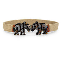 Tory Burch Tortoise Elephant-Buckle Belt