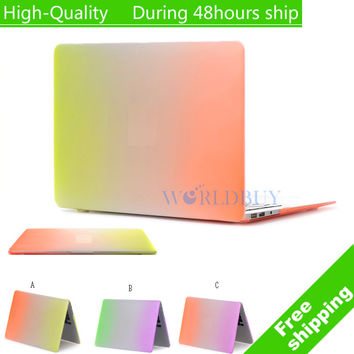 Colorful Design Matte Surface Hard Cover Case For MacBook Air 11 13pro and Retina 15pro Retina with Retina Display Free Shipping