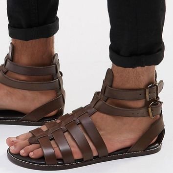 ASOS | ASOS Gladiator Sandals in Leather at ASOS