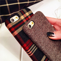 Cute On Sale Stylish Iphone 6/6s Hot Deal Apple Plaid Soft Phone Case [10292486215]